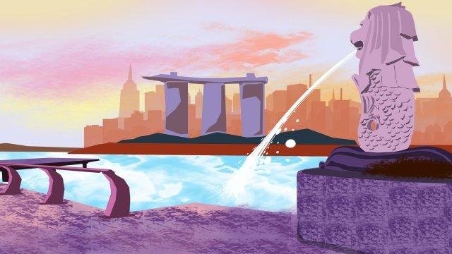 イラスト建物市水スプレー イラストレーション画像 イラスト画像