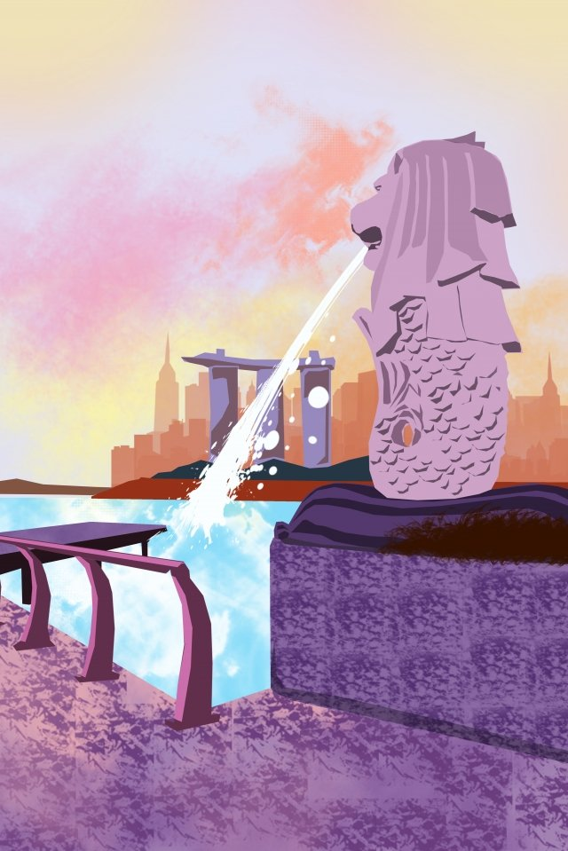 도시 물 스프레이를 구축하는 그림 삽화 소재
