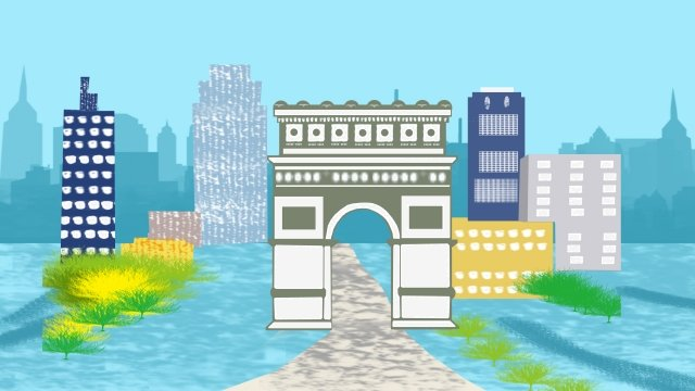illustration building famous arc de triomphe llustration image illustration image