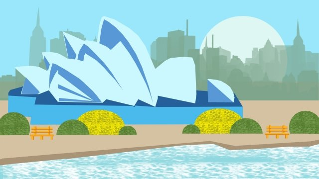 illustration building famous features llustration image