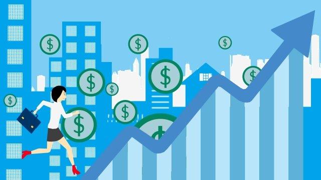 illustration business flat arrow, Money, Financial, White Collar illustration image