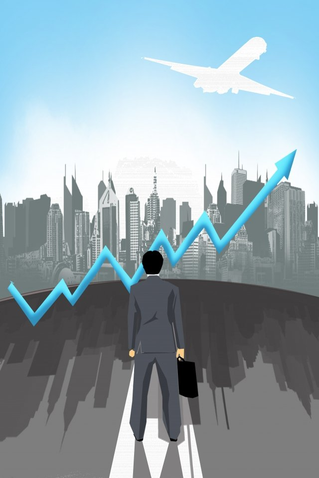 illustration business flat financial, Arrow, White Collar, City illustration image