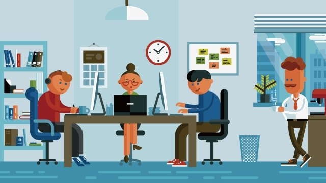 illustration business office company scene the company llustration image