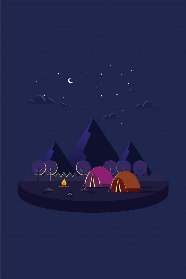 イラスト漫画クリエイティブキャンプキャンプイラスト旅行 イラスト素材