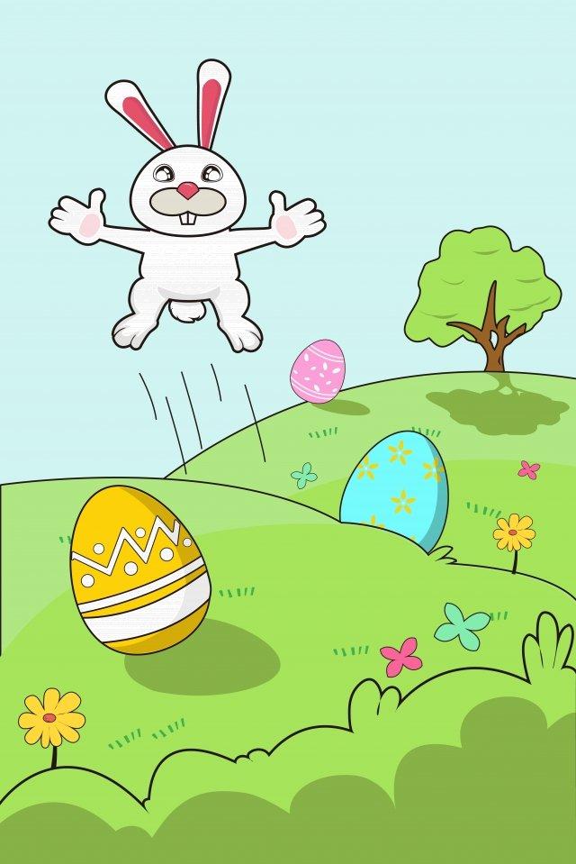 illustration cartoon egg rabbit, Lovely, Meng, Child illustration image