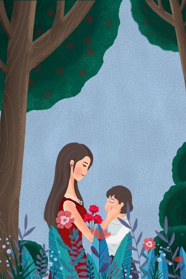 التوضيح ام الطفل الجميل مواد الصور المدرجة