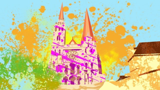 illustration church building chartres cathedral llustration image illustration image