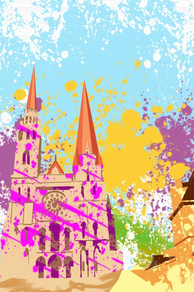 illustration church building chartres cathedral llustration image