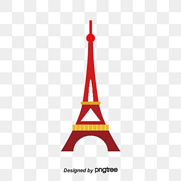 illustration city building eiffel tower, Sunset, Famous, Features illustration image