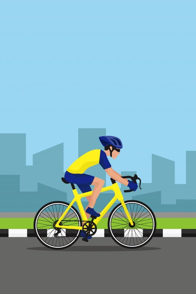 illustration city motion character, Riding, Cycling, Cycling Character illustration image