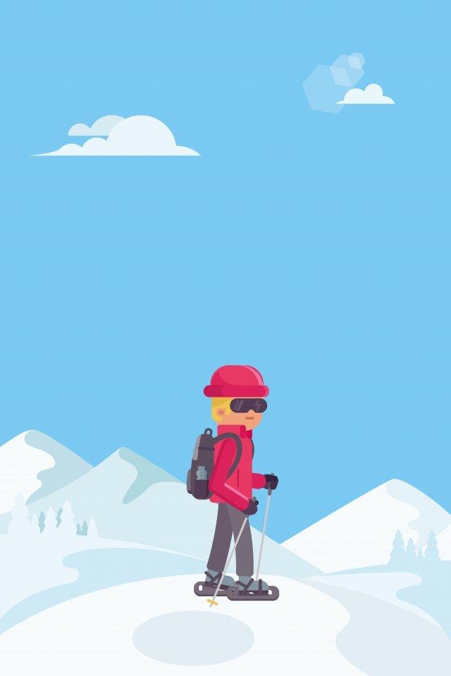 illustration climbing figure landscape mountaineering, Snow Mountain, The Climb, Climbing The Snow Mountain illustration image
