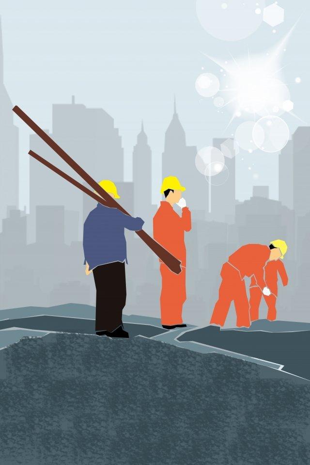 ilustração construção equipe equipe areia pilha Material de ilustração Imagens de ilustração