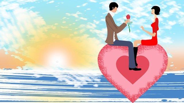 그림 커플 사랑 사랑 삽화 소재 삽화 이미지