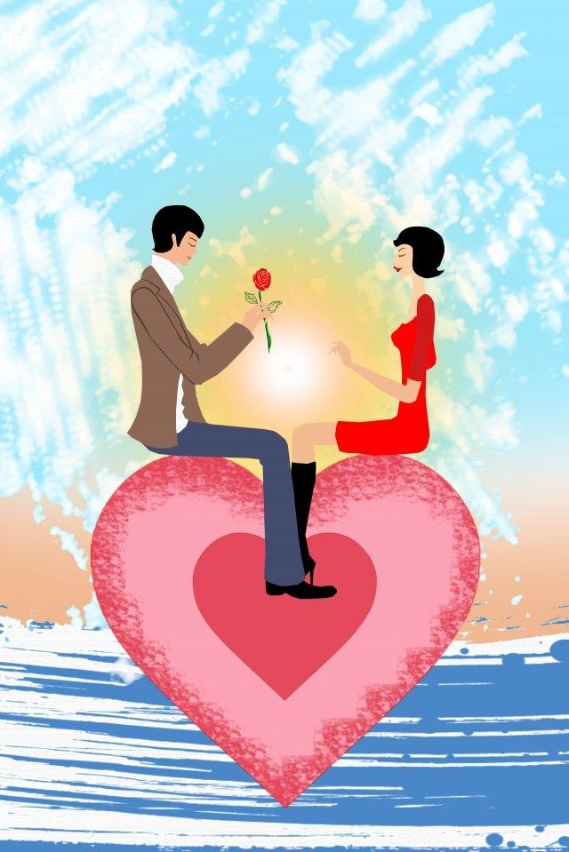イラストカップル愛愛 イラスト素材 イラスト画像