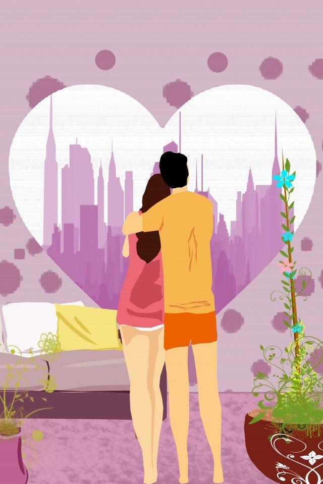 minh họa tình yêu đôi lứa Hình minh họa