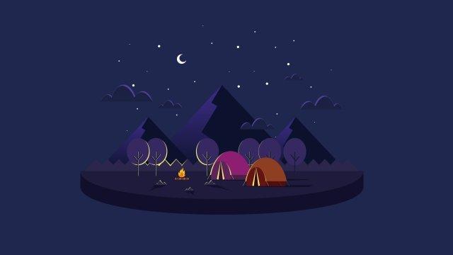 イラストクリエイティブ漫画キャンプキャンプクリエイティブイラスト イラストレーション画像