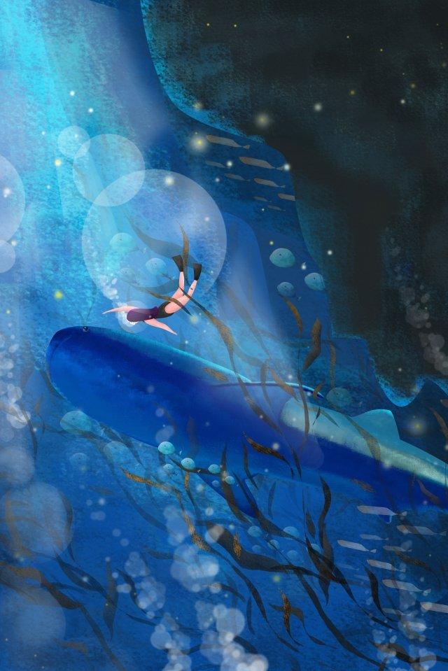 ilustrasi lumba lumba lautan biru tua imej keterlaluan