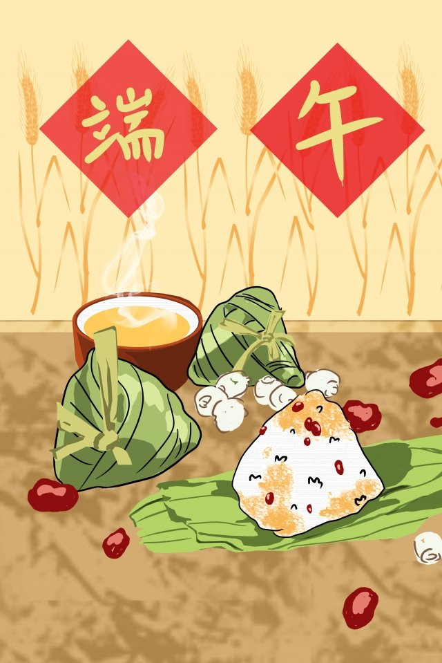 illustration dragon boat festival festival zongzi, Soup, Board Painting, Hand Painted illustration image