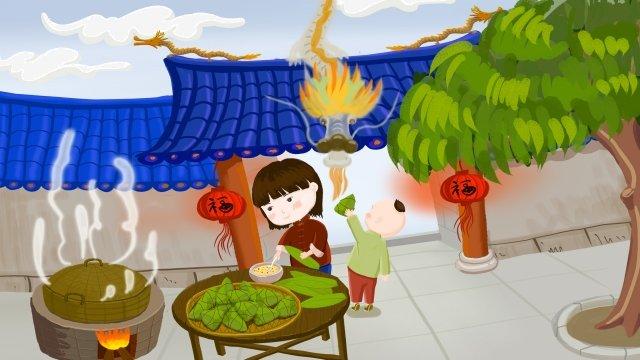 ilustrasi dragon boat festival scorpion dragon imej keterlaluan