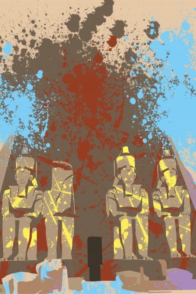 イラストエジプト建物ファラオ イラストレーション画像