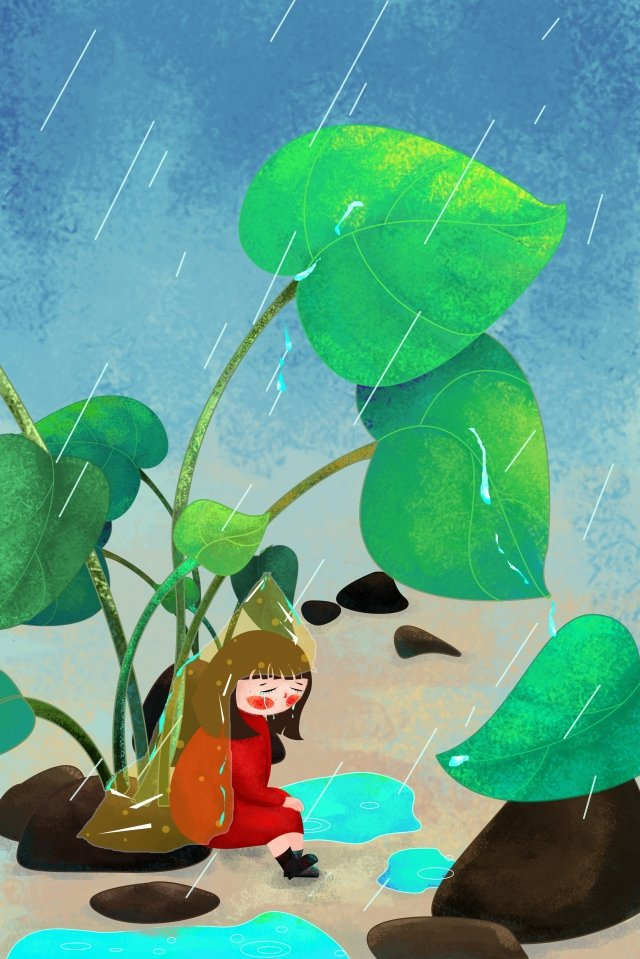 minh họa cảm xúc mưa buồn Hình minh họa