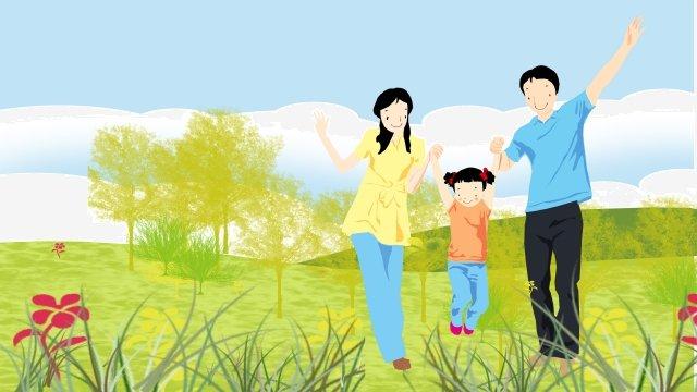 그림 3 가족 야외 가족 삽화 소재 삽화 이미지