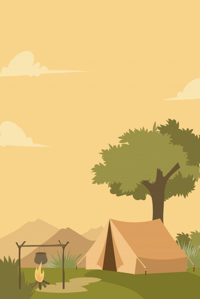 イラストフィールドキャンプアドベンチャー イラスト素材