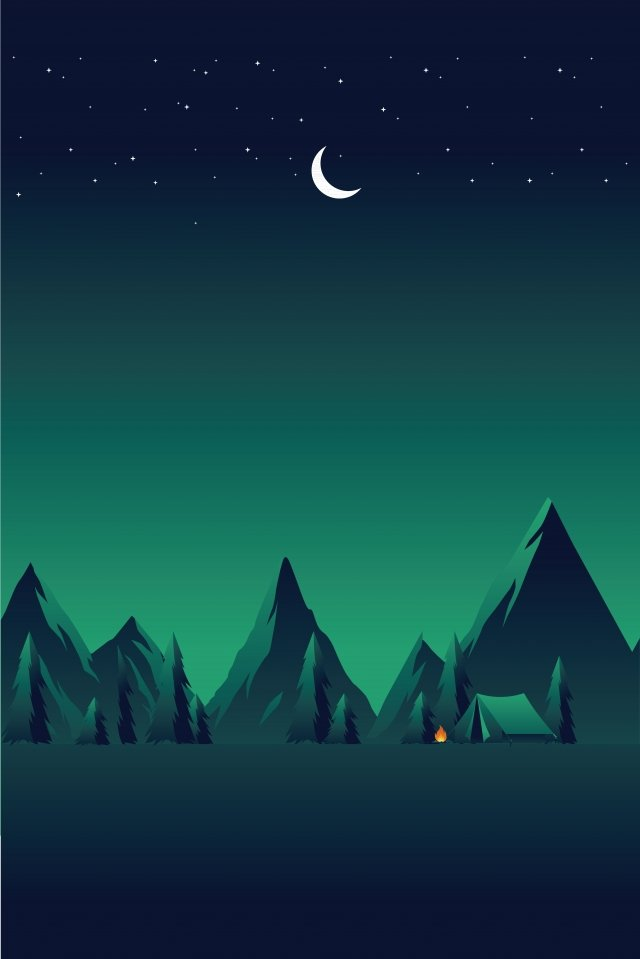 illustration field night starry sky, Landscape, Camping, Wild Scenery illustration image