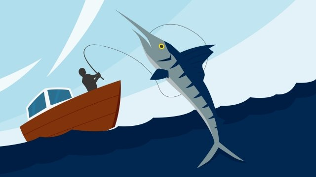 illustration fishing at sea fishing ocean, Fishing, Ocean Scenery, Ferry illustration image