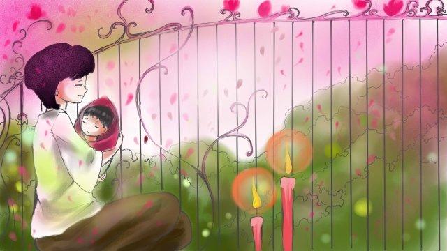 illustration flat mothers day maternal love llustration image