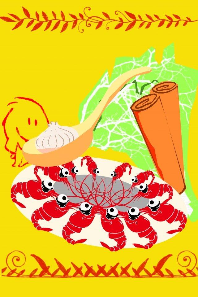 그림 음식 간식 왕새우 삽화 소재