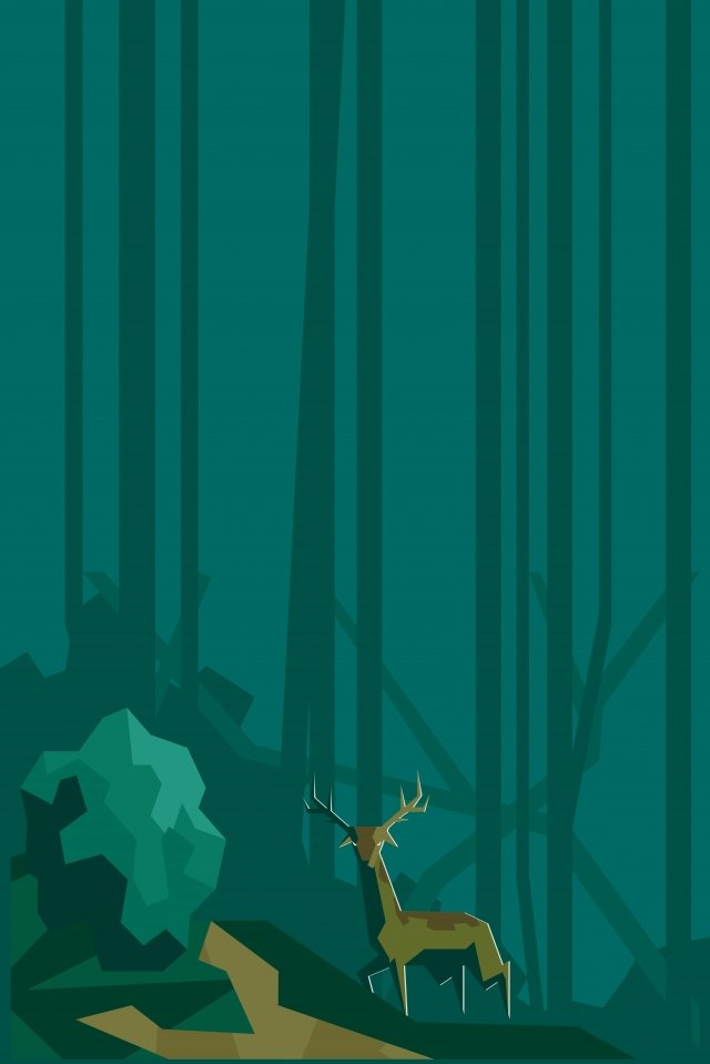 illustration forest animals deer landscape, Forest, Animal, Field illustration image