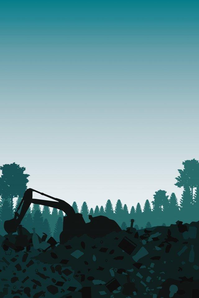 illustration garbage disposal scene landfill waste, Waste Cleaning, Rubbish, Environmental Protection illustration image