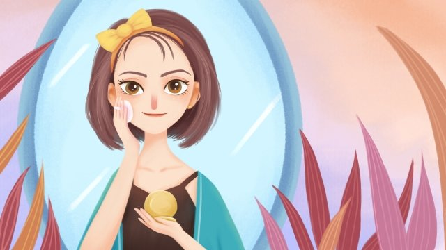 illustration girl beauty puff llustration image illustration image