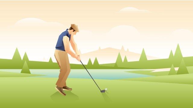 그림 골프 모션 장면 삽화 소재 삽화 이미지