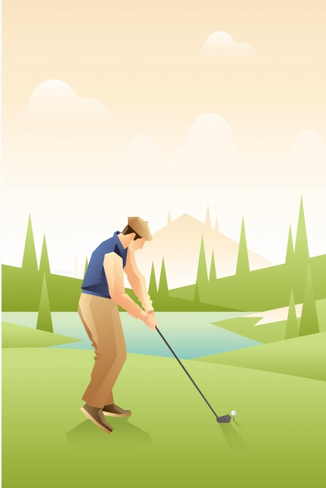 illustration golf scenes golf character llustration image