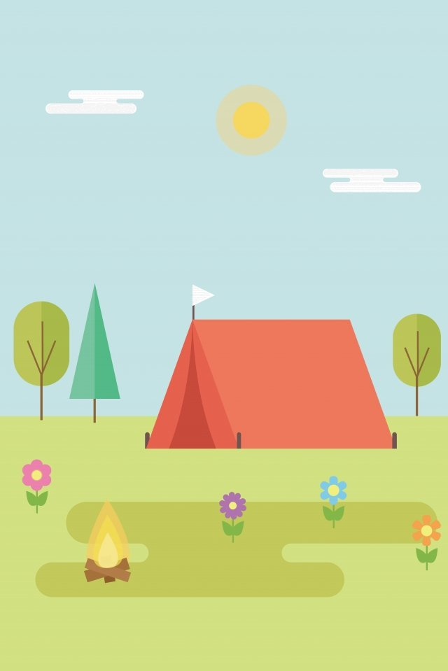 illustration grassland outdoor camping landscape llustration image illustration image