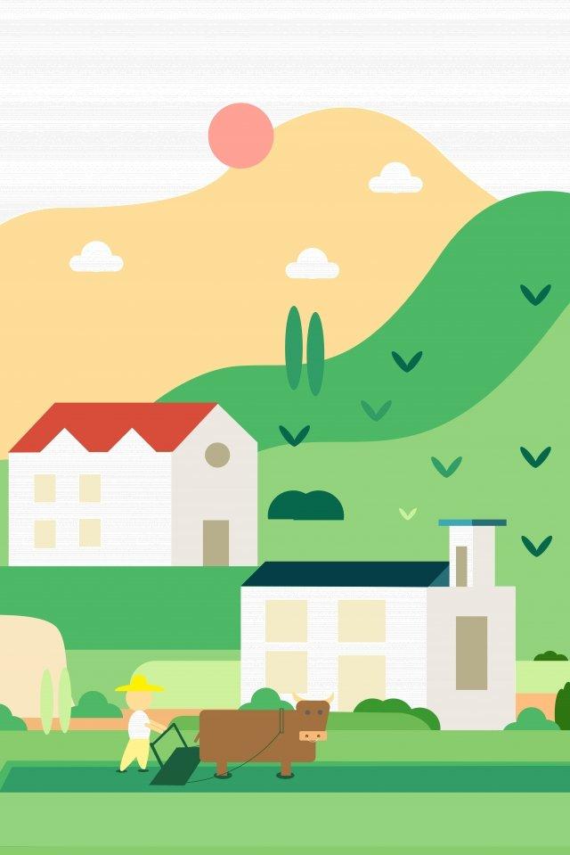 चित्रण हरी सरल क्षेत्र चित्रण छवि