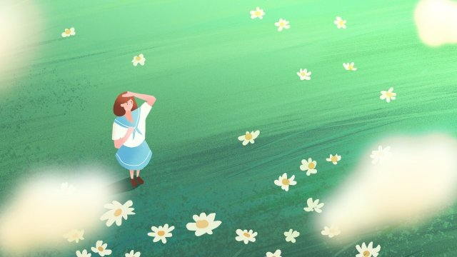 illustration hand painted college entrance examination learn, Student, Girl, Dream illustration image