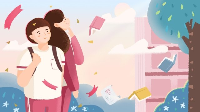 illustration hand painted college entrance examination learn, Examination, Candidate, Learn illustration image