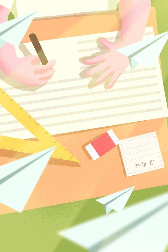 ilustração mão pintado exame de admissão da faculdade aprender Imagens de ilustração