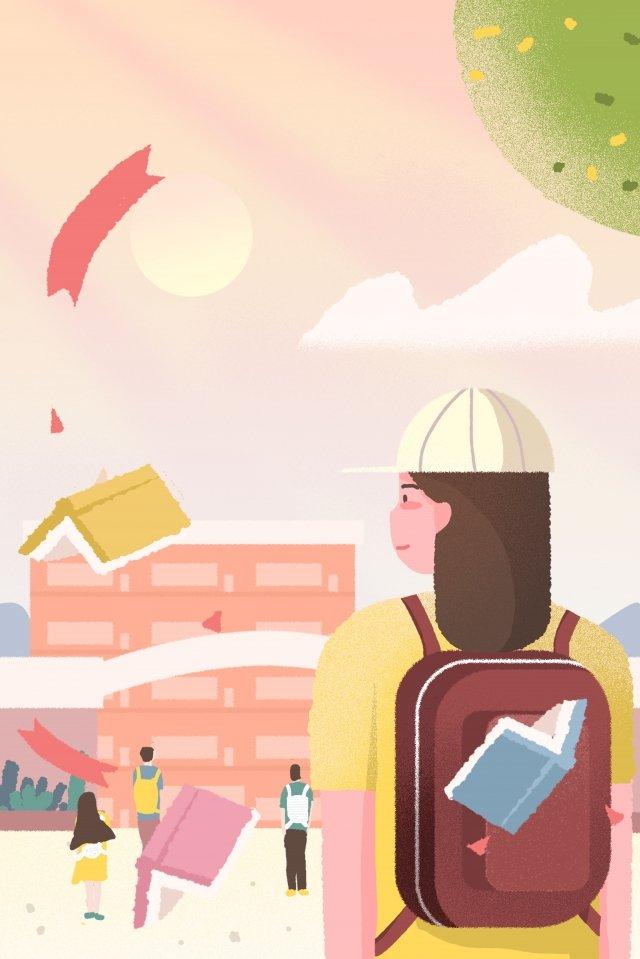 Candidatos de exame de admissão da faculdade para a sala de exame fundo rosa cartaz Ilustração Mão desenhada Exame deDa  Lá  Juventude PNG E PSD illustration image