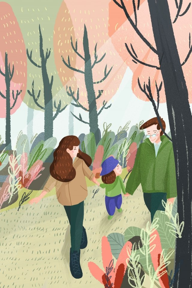 illustration hand painted family child, Education, Parents, Father illustration image