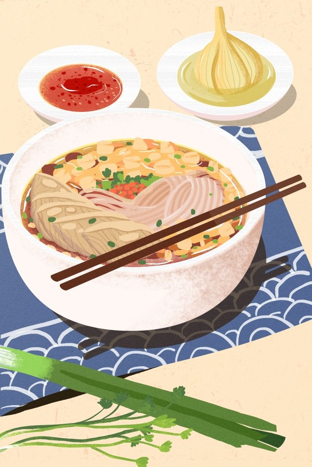 illustration hand painted food chinese style, Chinese Style, Shaanxi, Xian Snacks illustration image