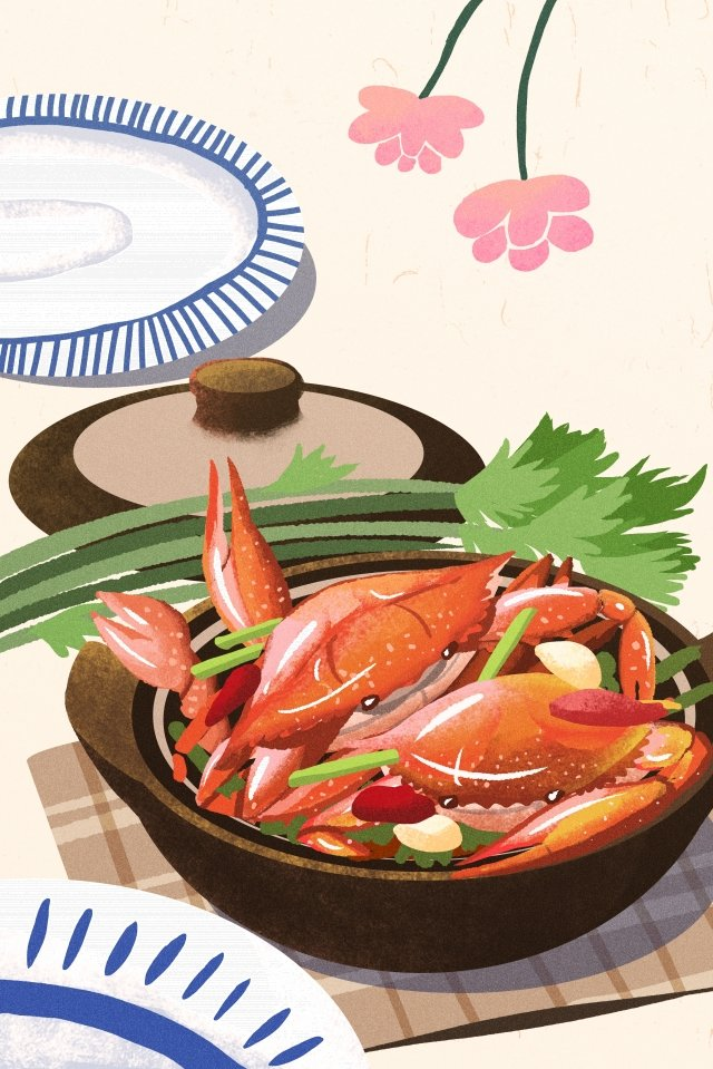 illustration hand painted food chinese style, Chinese Style, Nightingale, Snack illustration image