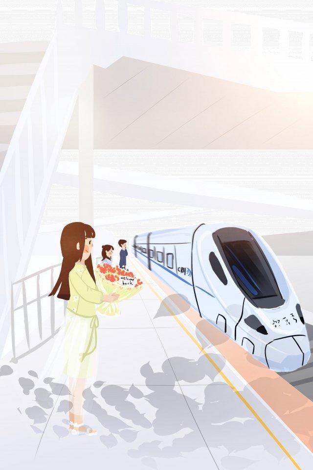 Иллюстрация ручная роспись современного движения Ресурсы иллюстрации