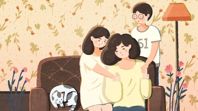 illustration hand painted mothers day mother llustration image