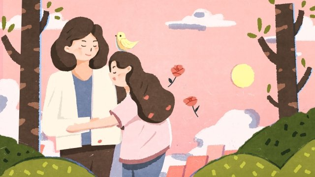 illustration hand painted mothers day mother llustration image illustration image