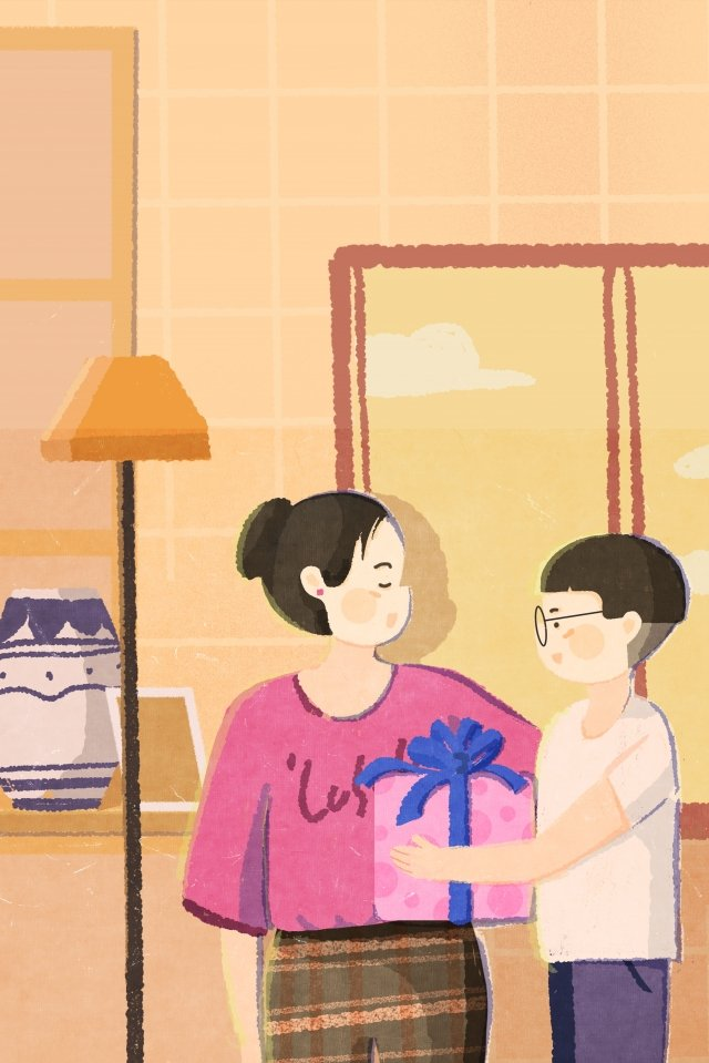 illustration hand painted mothers day mother, Mothers Day, Room, Illustration illustration image