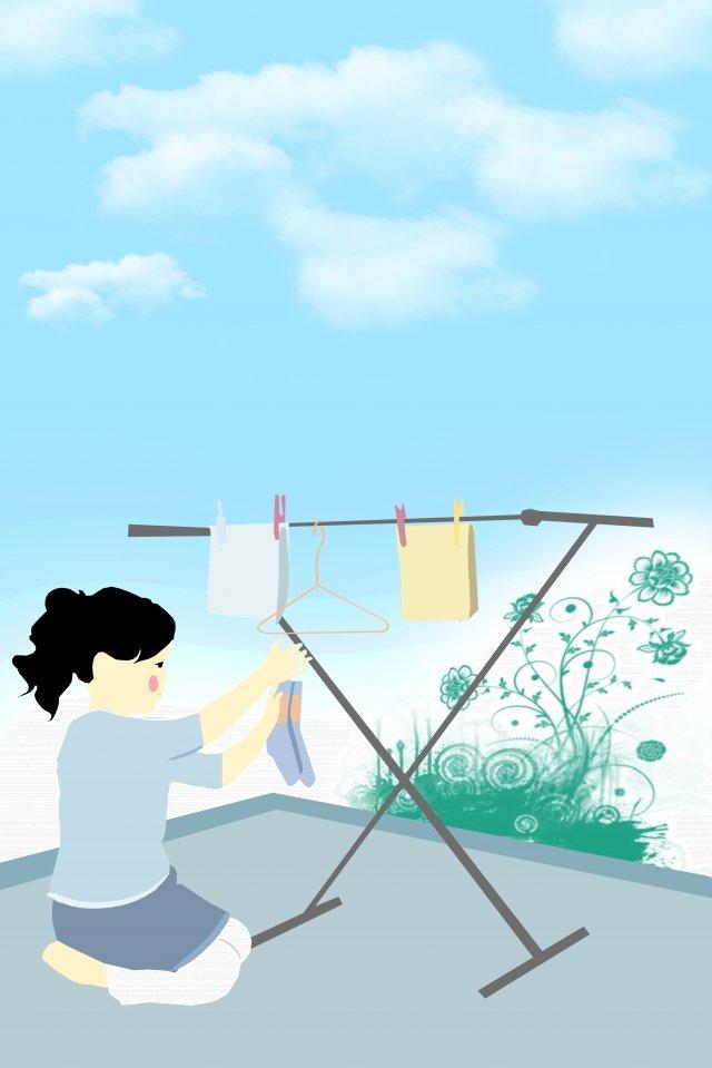 चित्रण श्रम सूखे कपड़े श्रम दिवस चित्रण छवि